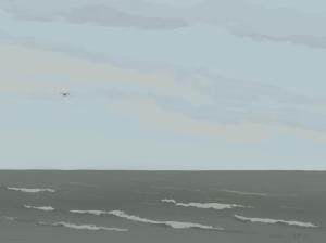 Danny Mooney 'Lone gull, 24/12/2015' iPad painting #APAD