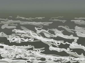 Danny Mooney 'Rough sea, 21/12/2015' iPad painting #APAD