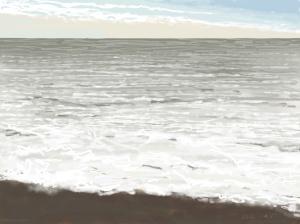 Danny Mooney 'So much foam, 30/12/2015' iPad painting #APAD
