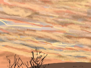 Danny Mooney 'Sunrise, Scarborough #4, 18/12/2015' iPad painting #APAD