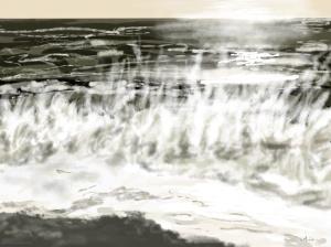 Danny Mooney 'Very impressive surf, 31/12/2015' iPad painting #APAD