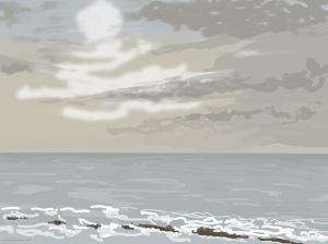 Danny Mooney 'Weak sun, 29/12/2015' iPad painting #APAD