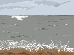 Danny Mooney 'A brief break in the weather, 11/1/2016' iPad painting #APAD