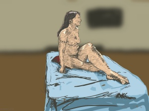Danny Mooney 'Terri - Sunday life drawing, 10/1/2016' iPad painting #APAD
